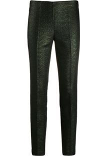 P.A.R.O.S.H. Glitter Slim Fit Trousers - Verde