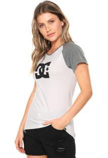 Camiseta Dc Shoes Star Raglan Off-White/Cinza