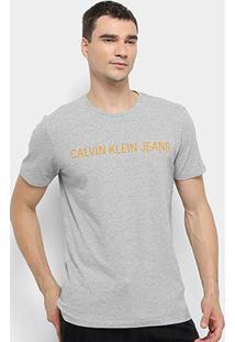 Camiseta Calvin Klein Masculina - Masculino-Cinza Claro