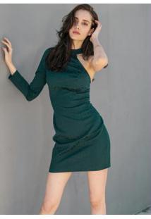 Vestido De Um Ombro Só Verde