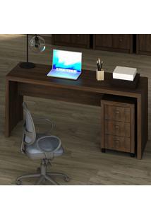 Mesa Para Escritório Rústico Me4109 - Tecno Mobili