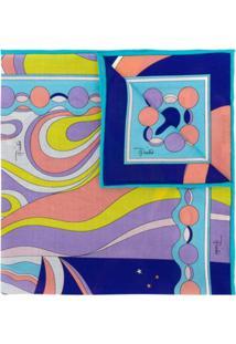 Emilio Pucci Lenço Com Estampa Astrology - Azul