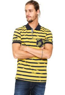 Camisa Polo Colcci Bolso Amarela