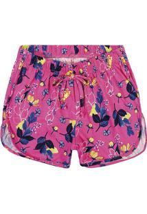 Short Floral - Pink & Azul Marinho- Lecimarlecimar