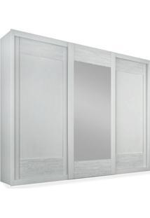 Armário 3 Portas De Correr Com Espelho Central, Branco, Anthony Ii