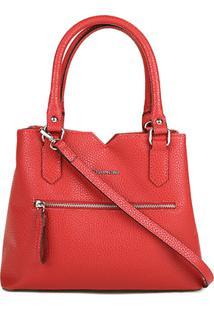 Bolsa Capodarte Handbag Média Relax Feminina - Feminino-Vermelho
