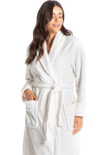 Robe Em Fleece Longo Tricotê