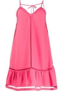 Redvalentino Vestido Com Recorte Vazado - Rosa