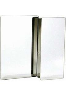 Armário Em Aço Inox Com Espelho Prata 53X50Cm