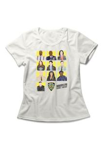 Camiseta Feminina Brooklyn Nine-Nine Off-White