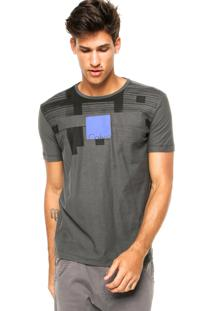 Camiseta Manga Curta Calvin Klein Jeans Estampada Cinza