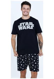 Pijama Masculino Estampa Star Wars Darth Vader Disney