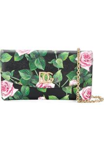 Dolce & Gabbana Bolsa Transversal Tropical Rose - Preto