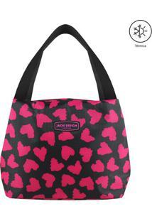 Bolsa Térmica Animal Print- Preta & Pink- 19X23X17Cmjacki Design