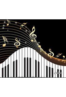 Quadro Impressão Digital Piano Preto E Branco 30X30Cm Uniart