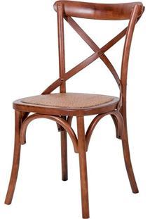 Cadeira Paris De Madeira Natural Sem Braço Assento De Rattan