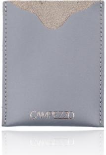 Carteira Slim Campezzo De Couro Cinza