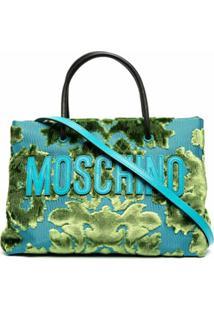 Moschino Bolsa Tote Tapestry De Jacquard - Azul