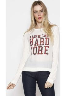 """Blusa """"American Hard Core"""" - Off White & Vermelhacalvin Klein"""