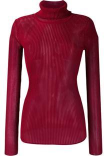 Victoria Victoria Beckham Blusa De Tricô Com Gola Alta - Vermelho