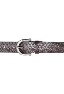 Cinto Corazzi Leather Deluxe Snake Café