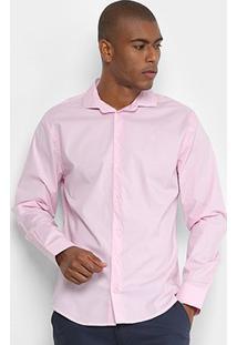 Camisa Básica Manga Longa Forum Masculina - Masculino-Rosa