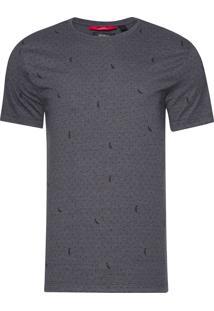 Camiseta Masculina Poá Pica Pau - Cinza