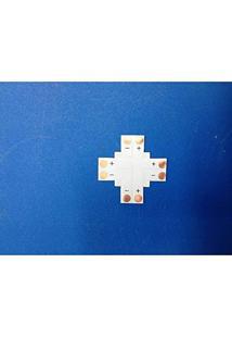 Kit De 5 Conectores Para Fita Led 8Mm - 2 Pinos Em Cruz (+) (Smd3528) - Lms-K5C2Pcz-8Mm