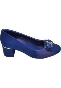 Sapato Feminino Salto Baixo Usaflex Azul Marinho