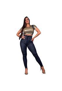 Calça Feminina Com Suspensório Pit Bull Jeans 38724 Pitbull