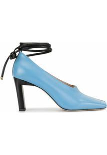 Wandler Sapato Isa Mule Raisin Com Salto 85Mm - Azul