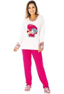 Conjunto Pijama Victory Inverno Tradicional Feminino - Feminino-Pink