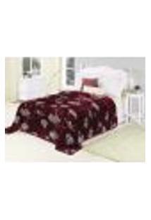 Cobertor Solteiro Nobre Cherry