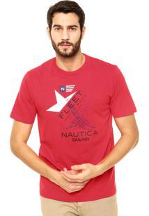 Camiseta Nautica Classic Fit Fleet Vermelha