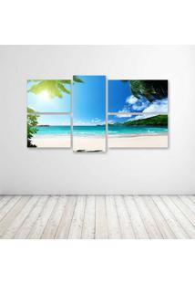 Quadro Decorativo - Praia Paraiso - Composto De 5 Quadros - Multicolorido - Dafiti