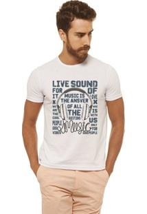 Camiseta Joss Estampada - Live Sound - Masculina - Masculino-Branco