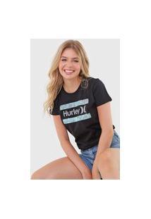 Camiseta Hurley Free Flower Preta