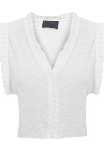 Blusa Feminina Poncho - Off White