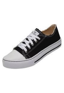 Tênis Sapatenis Casual Feminino Mr Try Shoes Preto