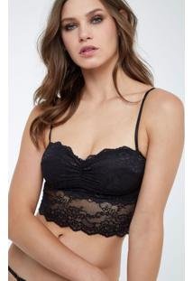Top Renda Bojo Preto - M
