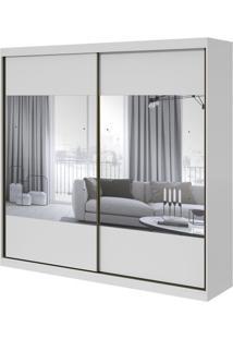 Guarda-Roupa Royal Com Espelho - 2 Portas - Branco