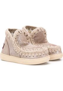 Mou Kids Ankle Boot Com Detalhe De Costura - Neutro