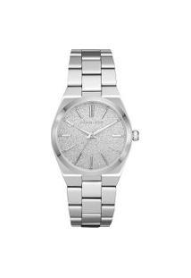 Relógio Analógico Michael Kors Channing Feminino - Mk66261Kn Prateado