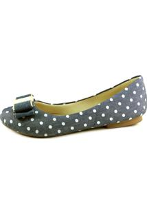 Sapatilha Infinity Shoes Ck Flat Jeans Poá