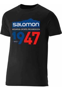 Camiseta Masculina 1947 Tam P Preto - Salomon