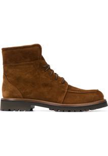 Scarosso Ankle Boot Com Cadarço - Marrom