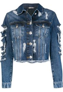 Philipp Plein Jaqueta Jeans 'Only Patches' - Azul