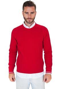 Blusa G'Dom Com Canelados Vermelha (Vermelho, M)