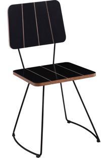 Cadeira Costela Cinza Daf - Preto - Dafiti