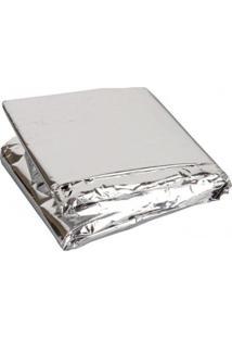 Cobertor Coleman Térmico De Emergência Aluminizado - Unissex-Prata